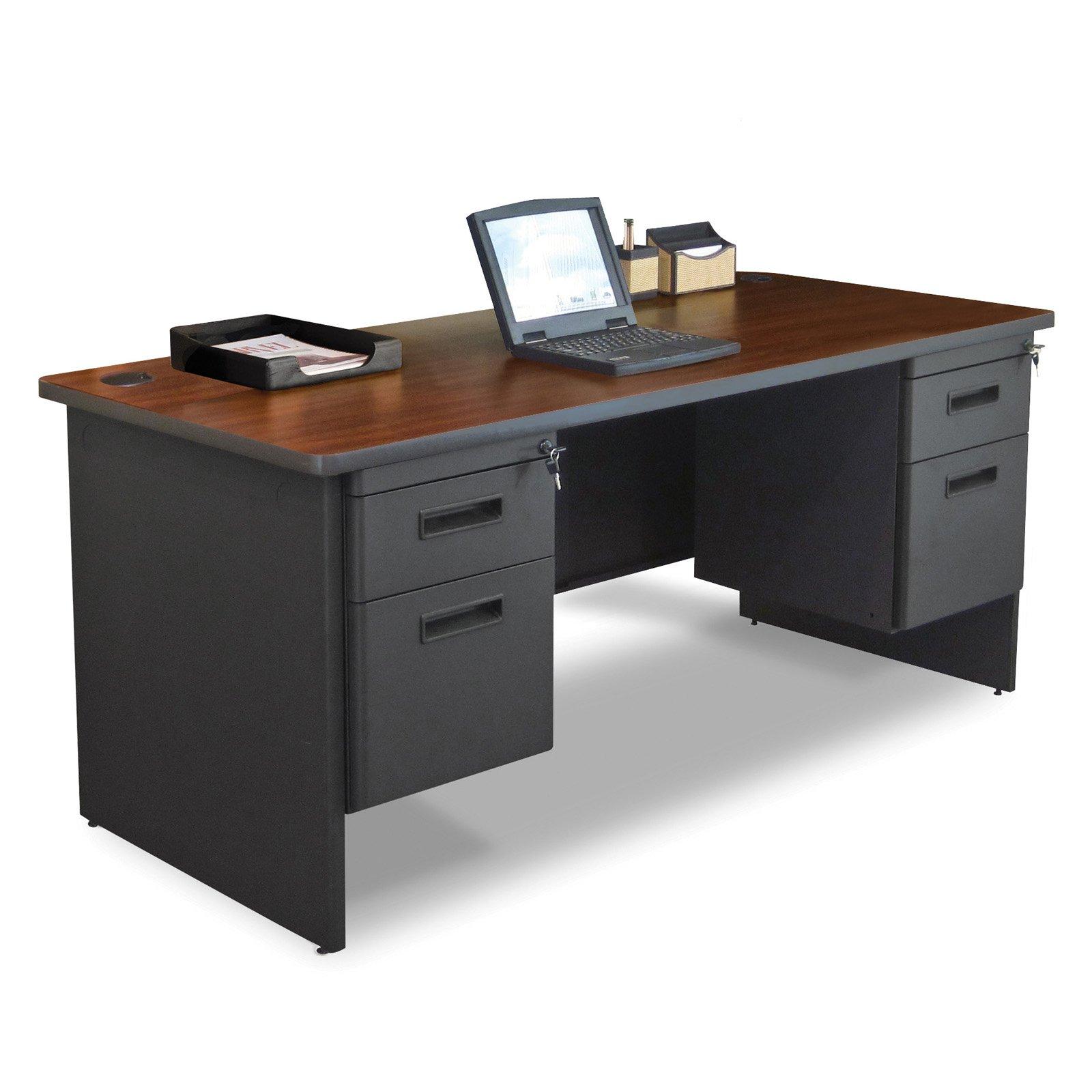 Pronto Double Pedestal Desk MVLPDR6630DPDTMA