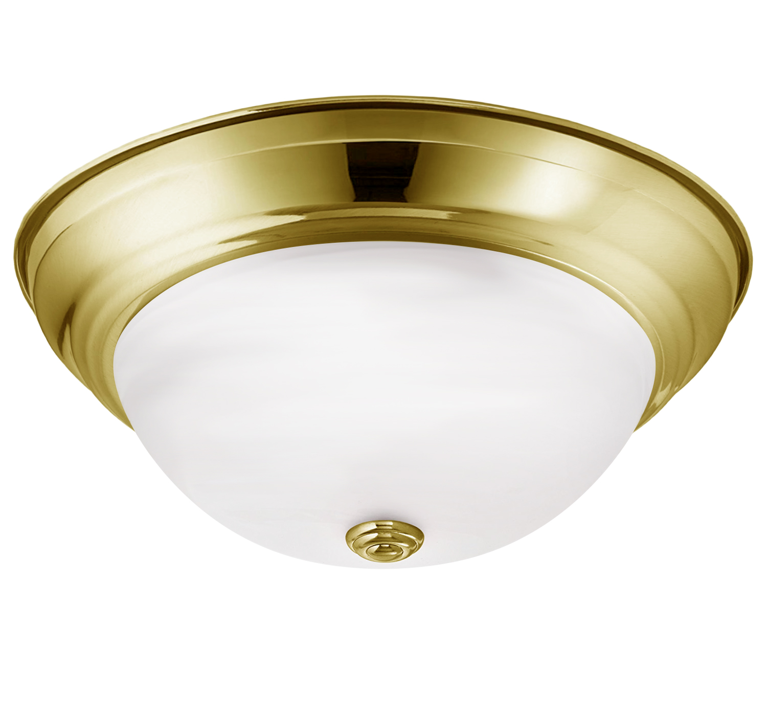 Dome Ceiling Lights: Luxrite LED Dome Ceiling Light, Gold Flush Mount Fixture