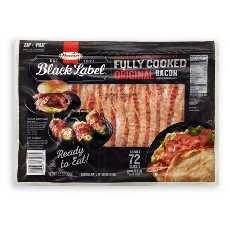 Hormel Black Label Fully Cooked Bacon, 9.5 -