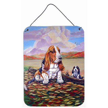 - Caroline's Treasures Basset Hound Little One Watching by Lyn Cook Painting Print Plaque