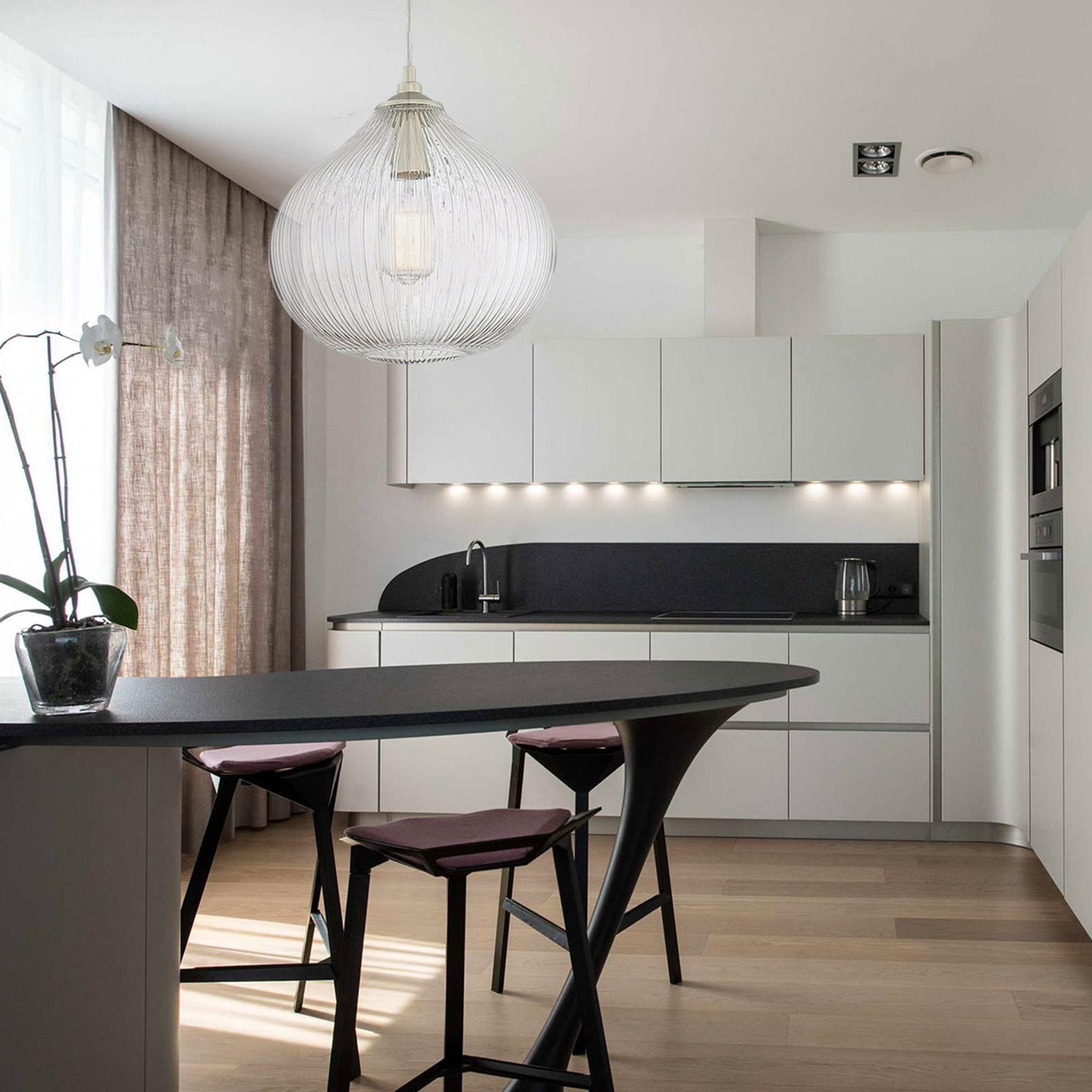Vanity Art Modern Elegant 1 Light Glass, Glass Dining Room Light Fixtures