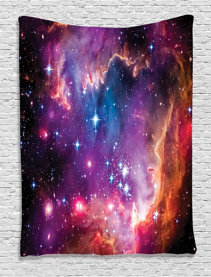 Cloud Stars Colorful Galaxy Tapestry Wall Hanging for Living Room Bedroom Dorm by Kozmos
