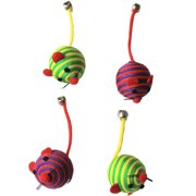 6-Pack Nylon Rope Fun Ball, Red/Green, 24 Pieces, 12 Each