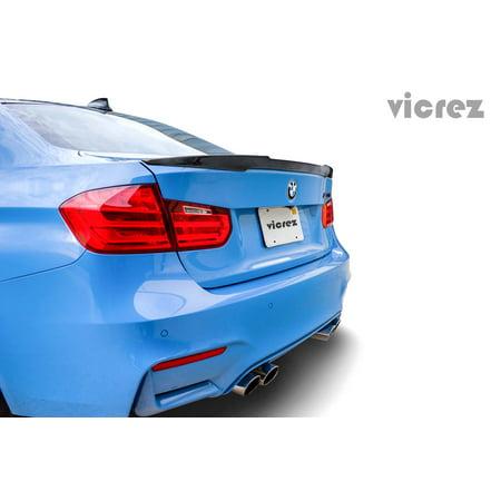 M3 Style Wing - Vicrez BMW M3 F80 E90 4Dr 2012-2016 VZ3 Style Carbon Fiber Rear Wing Spoiler - vz100328