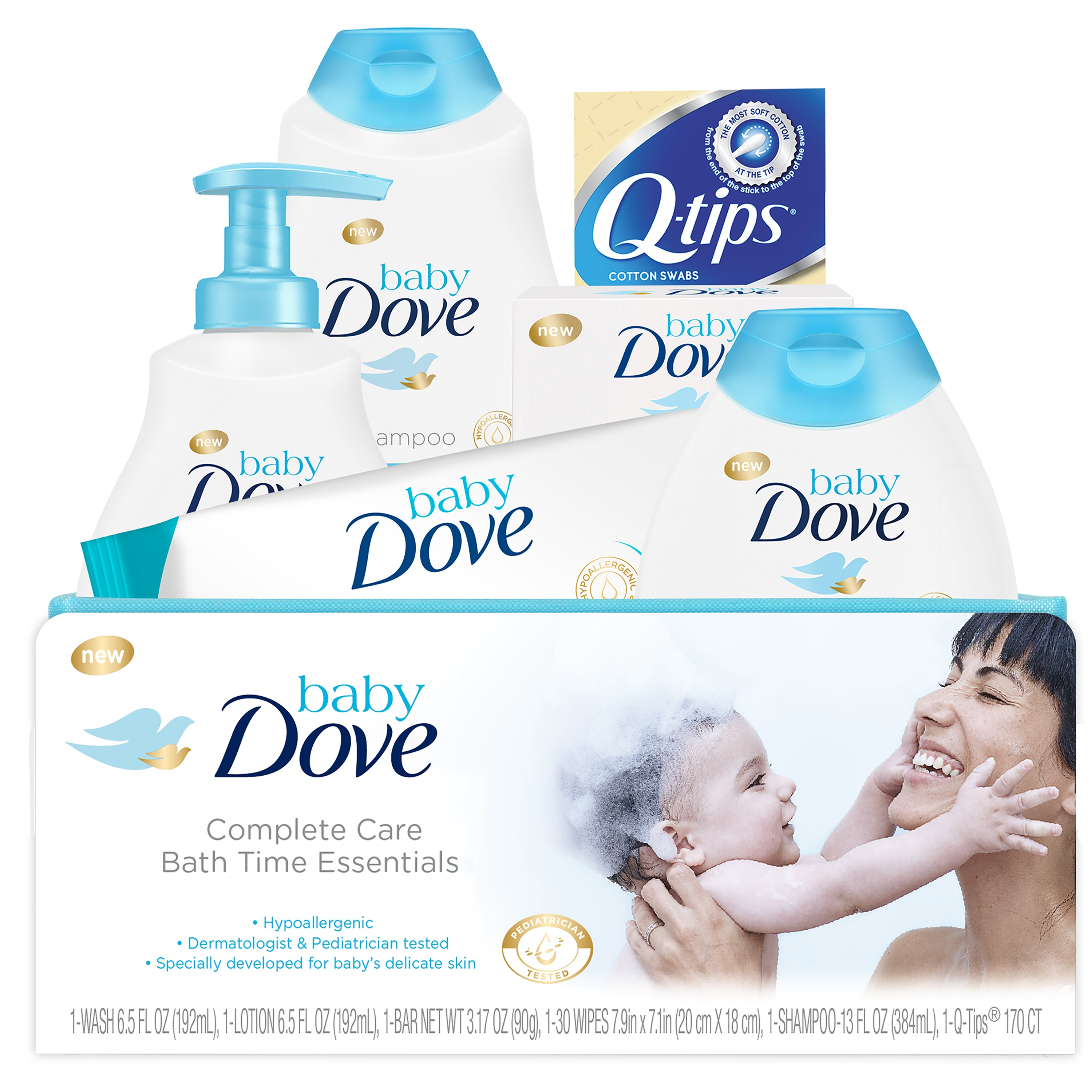 Baby Dove Complete Care Bath Time Essentials Gift Set 6 pc by Unilever