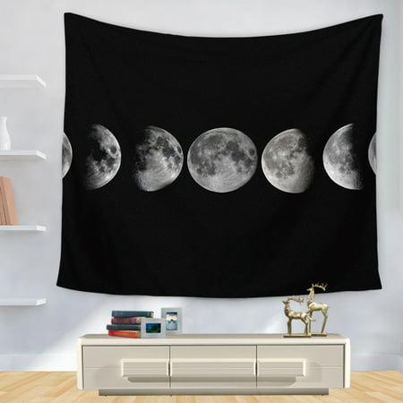 1PC Bohemian Blanket Indian Mandala Mandala Tapestry Blankets Moon Tapestry Wall Hanging Decor Beach Towels Picnic Mat ()