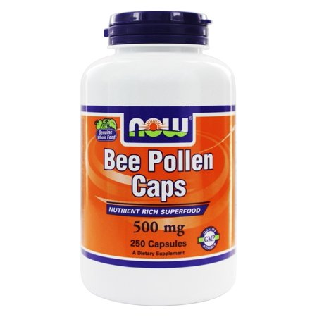 NOW Foods - Bee Pollen 500 mg. - 250 Capsules ()