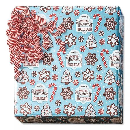 - Christmas Confections Foil Christmas Gift Wrap - 38 sq. ft. metallic wrap