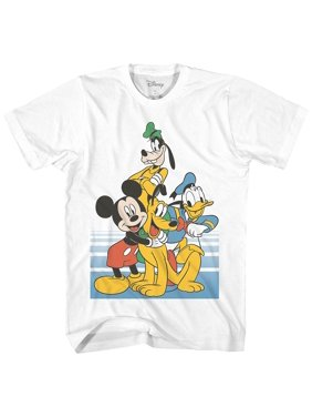 275e804e9a Product Image Disney Classic Group Pose Mickey Mouse Donald Duck Goofy  Pluto Disneyland World Funny Graphic Adult Men's