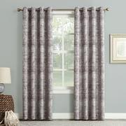 Sun Zero Dominic Distressed Woven Jacquard Blackout Grommet Curtain Panel