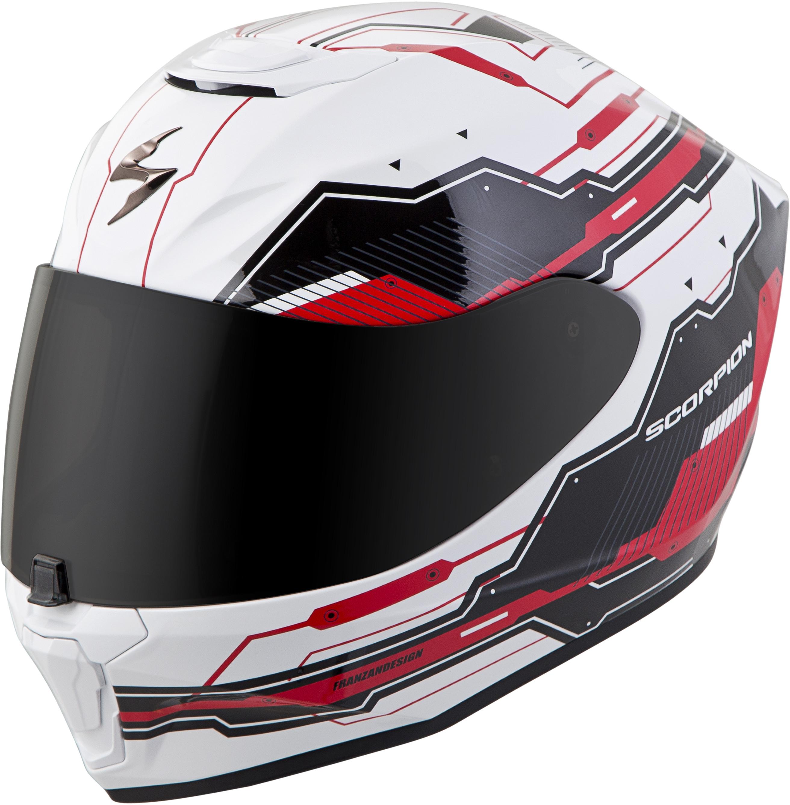 Exo-R420 Full-Face Techno Helmet White/Red 3X