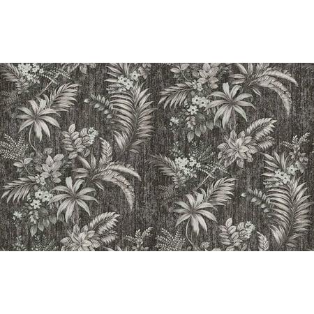 Brewster Dis Legolas Black Botanical Wallpaper