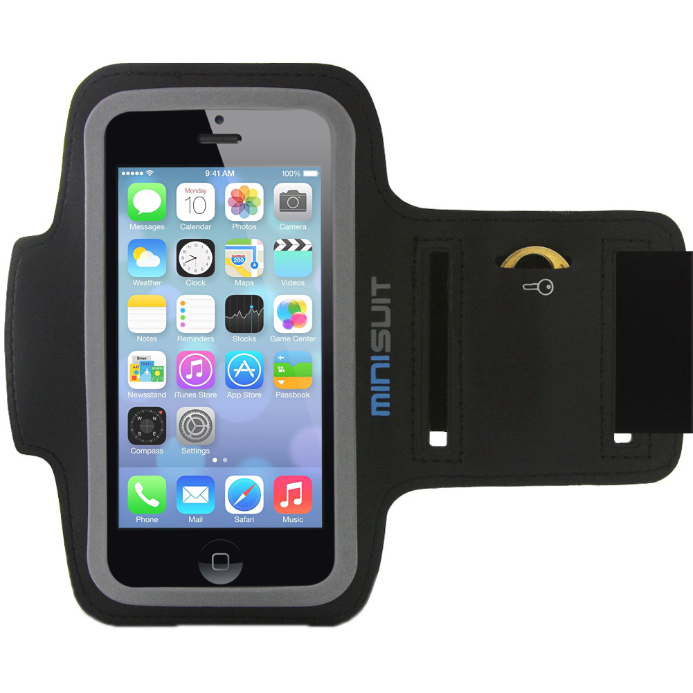 Minisuit SPORTY Armband + Key Holder for iPhone 5/5S/5C/SE, iPod Touch 6, 5