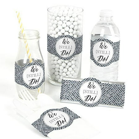 We Still Do - 25th Wedding Anniversary - DIY Party Wrapper Favors - Set of 15 (25th Anniversary Favors)