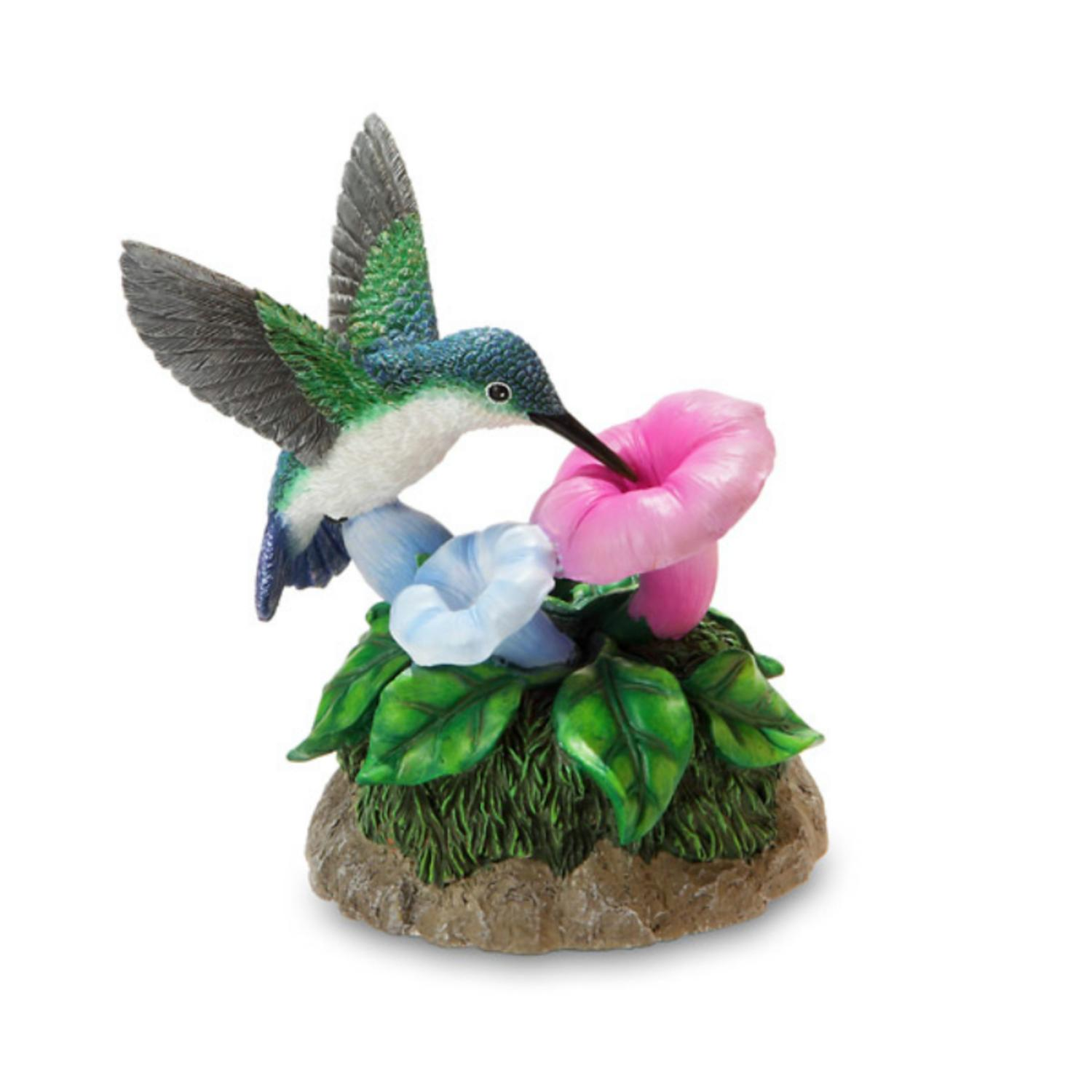 "Musical �������Waltz of the Flowers"" Mother's Day Hummingbird and Flower Figurine"