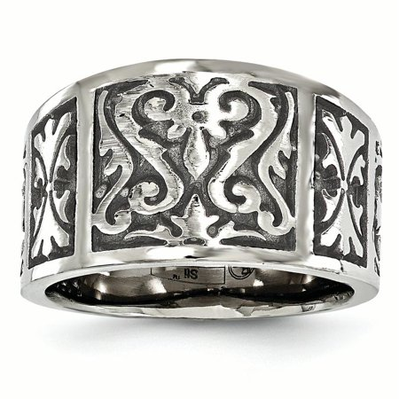 Edward Mirell Titanium Flat Casted Brushed Band Ring Size 9.00 Wedding Man Fancy Designed Fashion Jewelry Dad Mens Gift Set