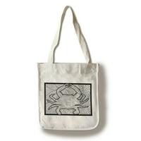 Blue Crab - Coloring Book - Lantern Press Artwork (100% Cotton Tote Bag - Reusable)