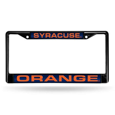 Syracuse Black Laser Etched Chrome License Plate Frame