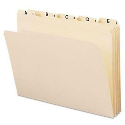 Indexed File Folders, 1/5 Cut, Indexed A-Z, Top Tab, 25 Folders (1/5 Cut Top Tabs)