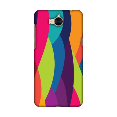 Huawei Y5 2017 Case, Premium Handcrafted Designer Hard Shell Snap On Case Printed Back Cover with Screen Cleaning Kit for Huawei Y5 2017, Slim, Protective - Bold Waves (New Wave Bar Halloween 2017)