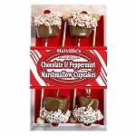 Chocolate Peppermint Marshmallow Cupcakes: 3 Count