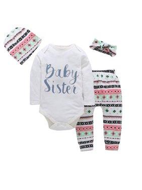 Baby Sets Children's Four-piece Baby Coat Plus Pants Plus Hat Plus Headdress Comfortable For Dressing