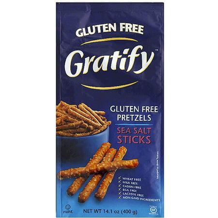 Gratify Gluten Free Sea Salt Sticks Pretzels, 6 oz, (Pack of 6) - Halloween Pretzel Sticks Recipe