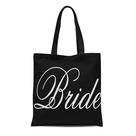 SIDONKU Canvas Tote Bag Future Tote Duo Double Black White Bride Mrs Wedding Reusable Handbag Shoulder Grocery Shopping Bags