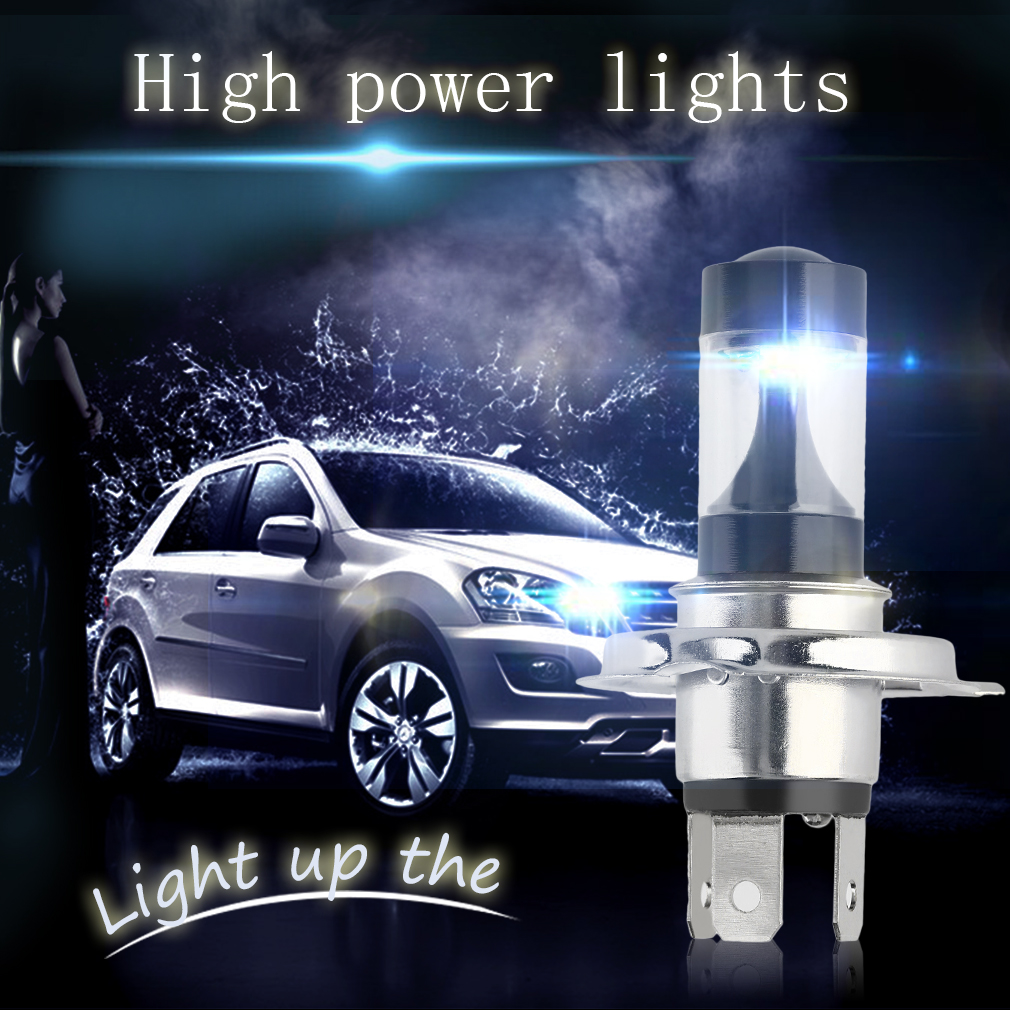 Black & Sliver Long Life 50000 Hours Low Consumption Cone Shape 30W High Bright 5LED Reverse Lights Car Parking Bulb H4