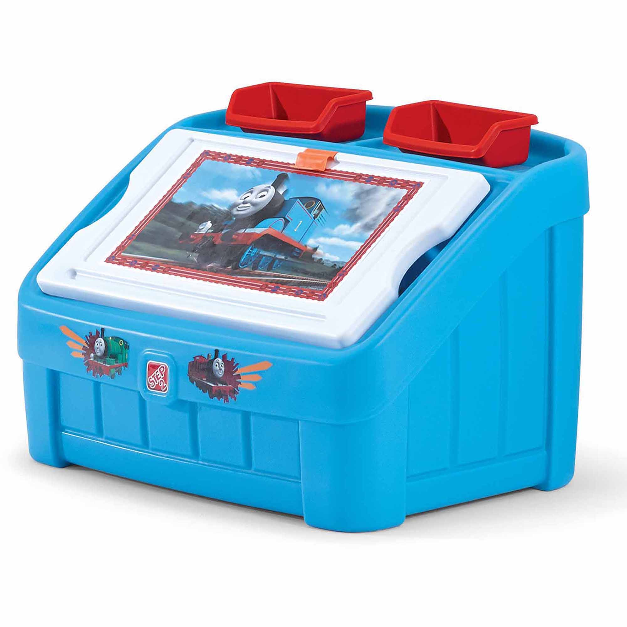 Step2 Thomas The Tank 2 In 1 Art Toy Box   Walmart.com