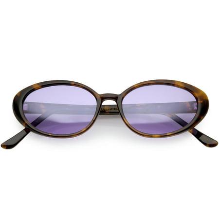 True Vintage Cat Eye Color Tinted Lens Oval Sunglasses 51mm (Tortoise / (Fair Trade Sunglasses)
