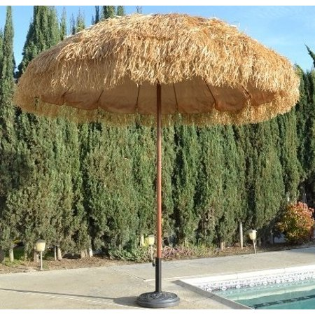 bayside21 8' hula thatched tiki umbrella natural color - Tiki Umbrellas