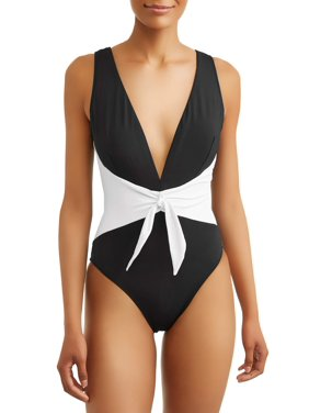 ad01374e6159e Product Image Women's Color Block Wrap One Piece Swimsuit