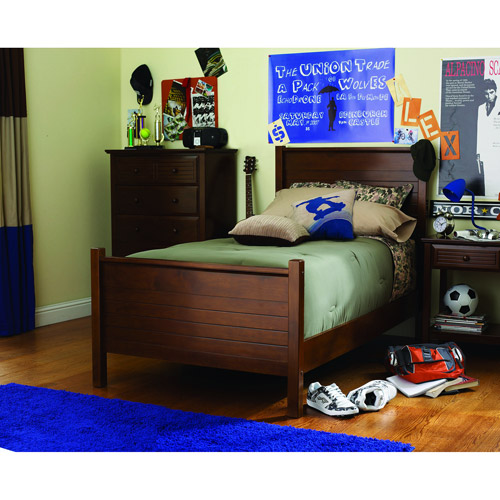 your zone zzz place to be twin bed, walnut