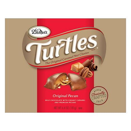Turtles Original Lay Down Box Caramel, Premium Pecans Covered in Milk Chocolate6.0 oz.(pacck of 1)