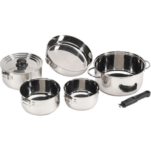 Stansport Cookware 7-Piece Stainless Steel Cook Set
