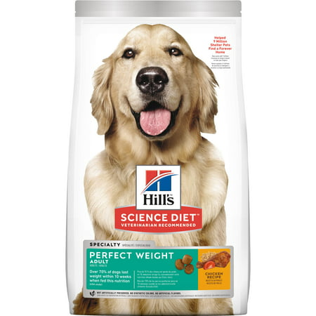 Hill's Science Diet (Spend $20, Get $5) Adult Perfect Weight Chicken Dry Dog Food, 28.5 lb bag (See description for rebate