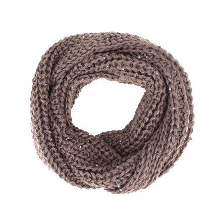 Scarf Khaki - Simplicity Women' s Super Soft Winter Knit Warm Infinity Scarf, Khaki