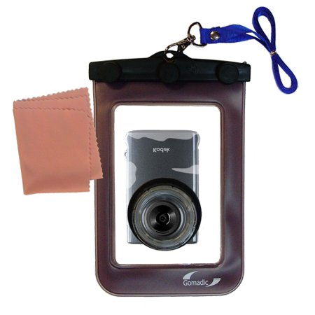 Gomadic Clean and Dry Waterproof Protective Case Suitablefor the Kodak Zm2 Mini Video Camera to use Underwater