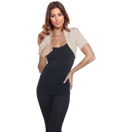 Simlu - Womens Shoulder Shrugs Reg and Plus Size Ruched ...