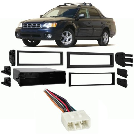 Fits Subaru Baja 2003-2005 Single DIN Stereo Harness Radio Install Dash Kit (Subaru Stereo Kit)