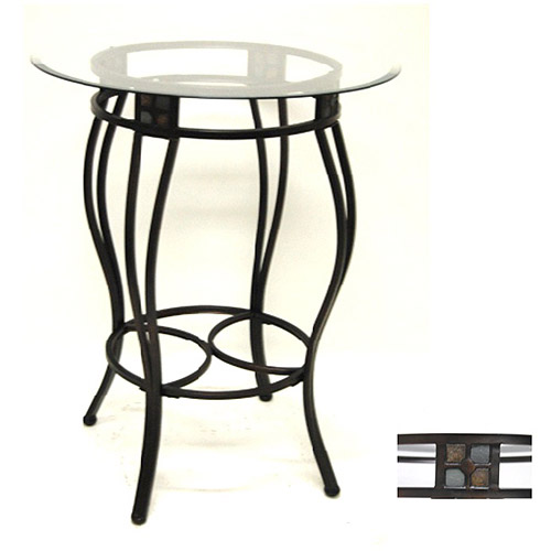 "Beau 42"" Pub Table, Black Gold by Generic"