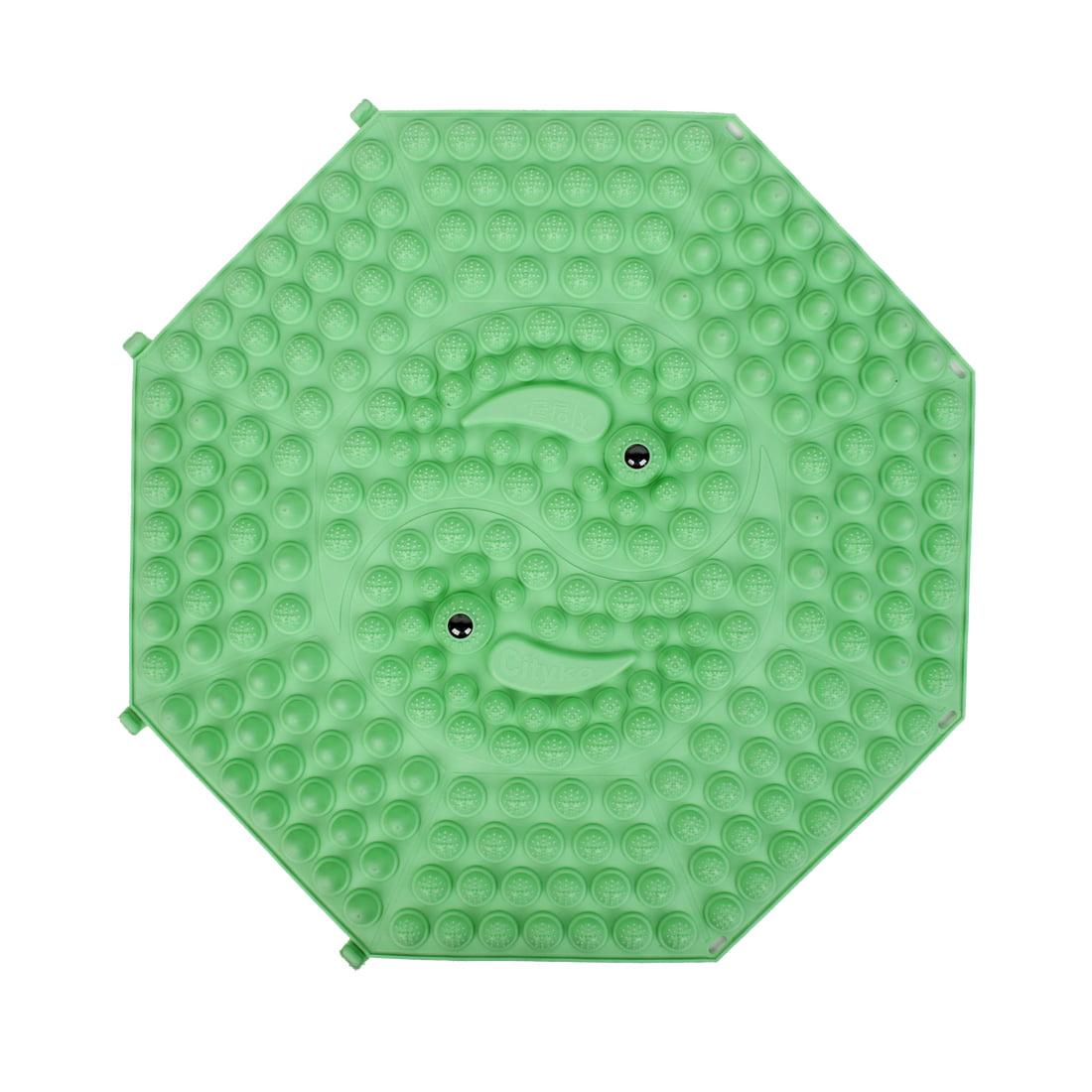 Unique Bargains Exercise Leisure Rubber Octagon Design Foot Acupressure Massage Mat Light Green