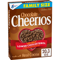 General Mills, Cheerios Breakfast Cereal, Chocolate, Gluten Free, Family Size 20.3 oz