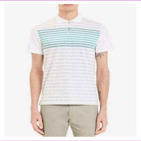 Calvin Klein Men's 100% Cotton Liquid Touch Polo Shirt M/Tourney Combo
