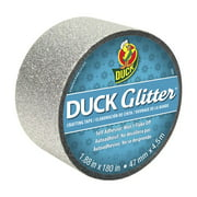 Duck Glitter Crafting Tape - Silver, 1.88 in. x 180 in.