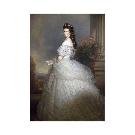 Empress Elizabeth of Austria and Bavaria by Franz Xavier Winterhalter Print Wall Art