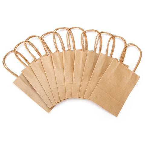 Value Pack Paper Crafting Bags - Kraft - 4.75 x 6.75 x 2 - 10 pieces