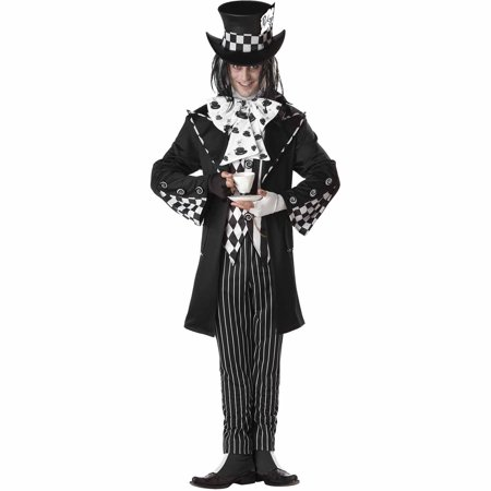 Dark Mad Hatter Adult Halloween Costume (Mad Hatter Headband)