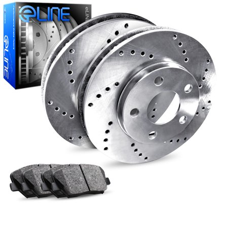 1990 1991 1992 1993 Mazda Miata Rear eLine Drilled Brake Disc Rotors & Ceramic Brake